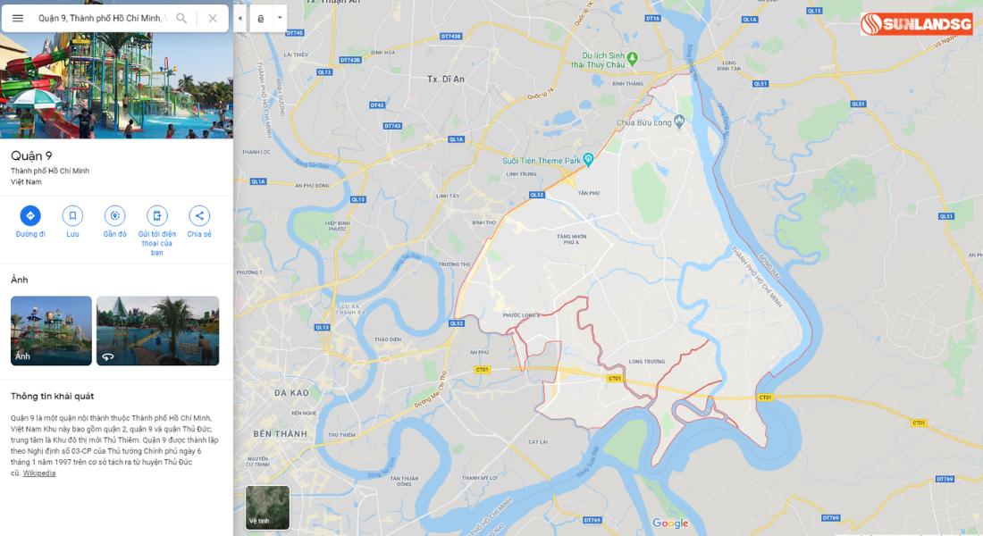 Sơ Đồ Vị Trí Quận 9 Thành Phố Hồ Chí Minh