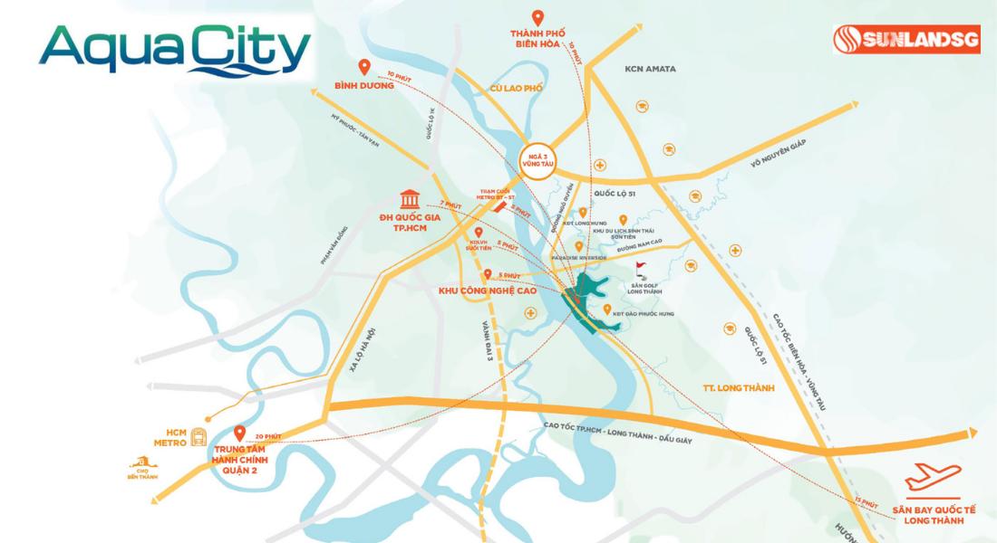 Vị Trí Aqua City Đồng Nai
