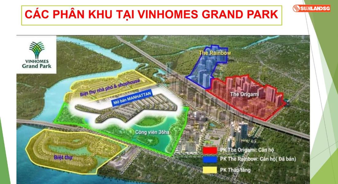 Mặt Bằng Tổng Các Phân Khu Dự Án Vinhomes Grand Park