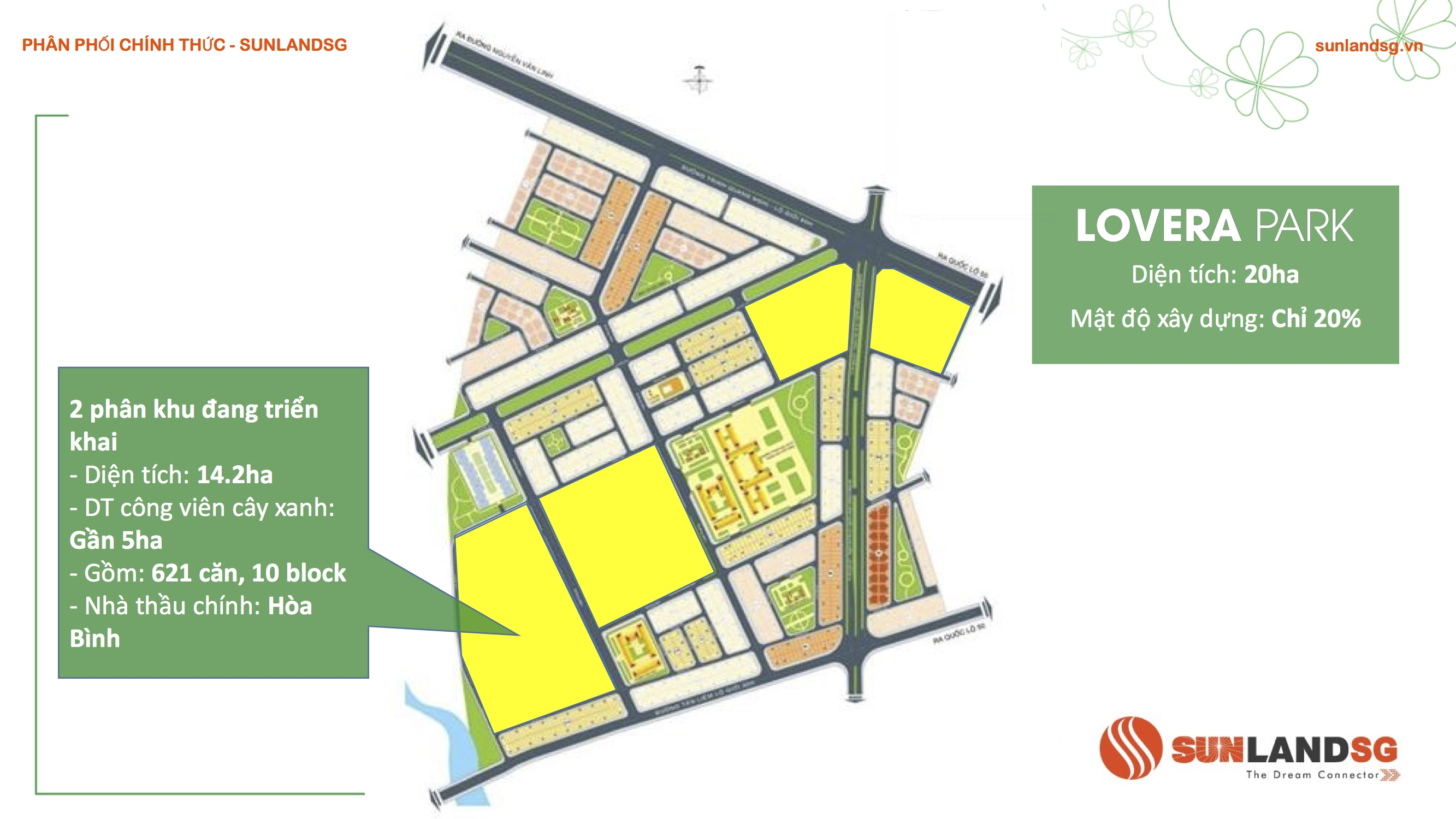 vi trí các phân khu dự án lovera park