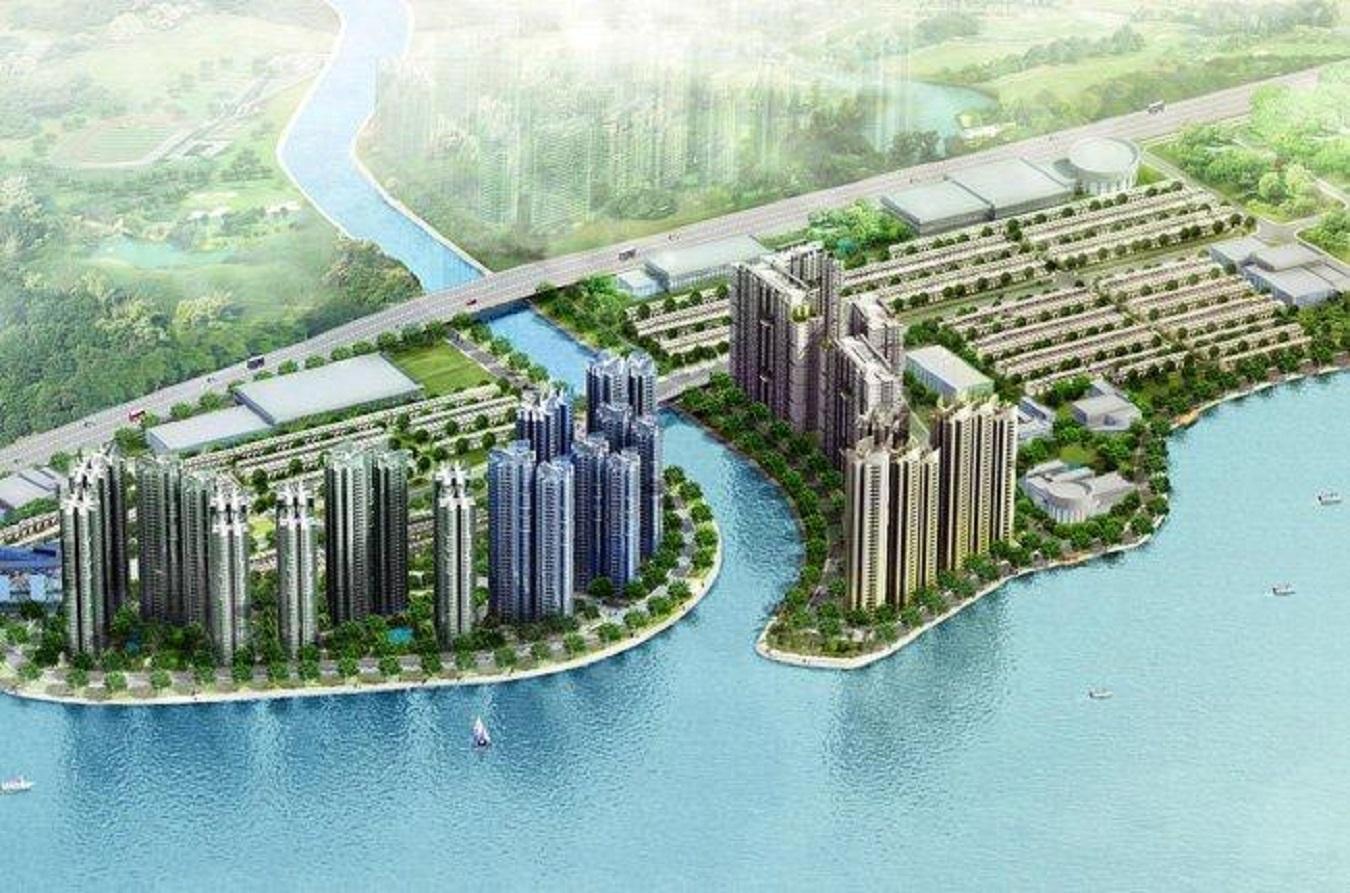 Tổng thể dự án căn hộ Gem Riverside đất xanh