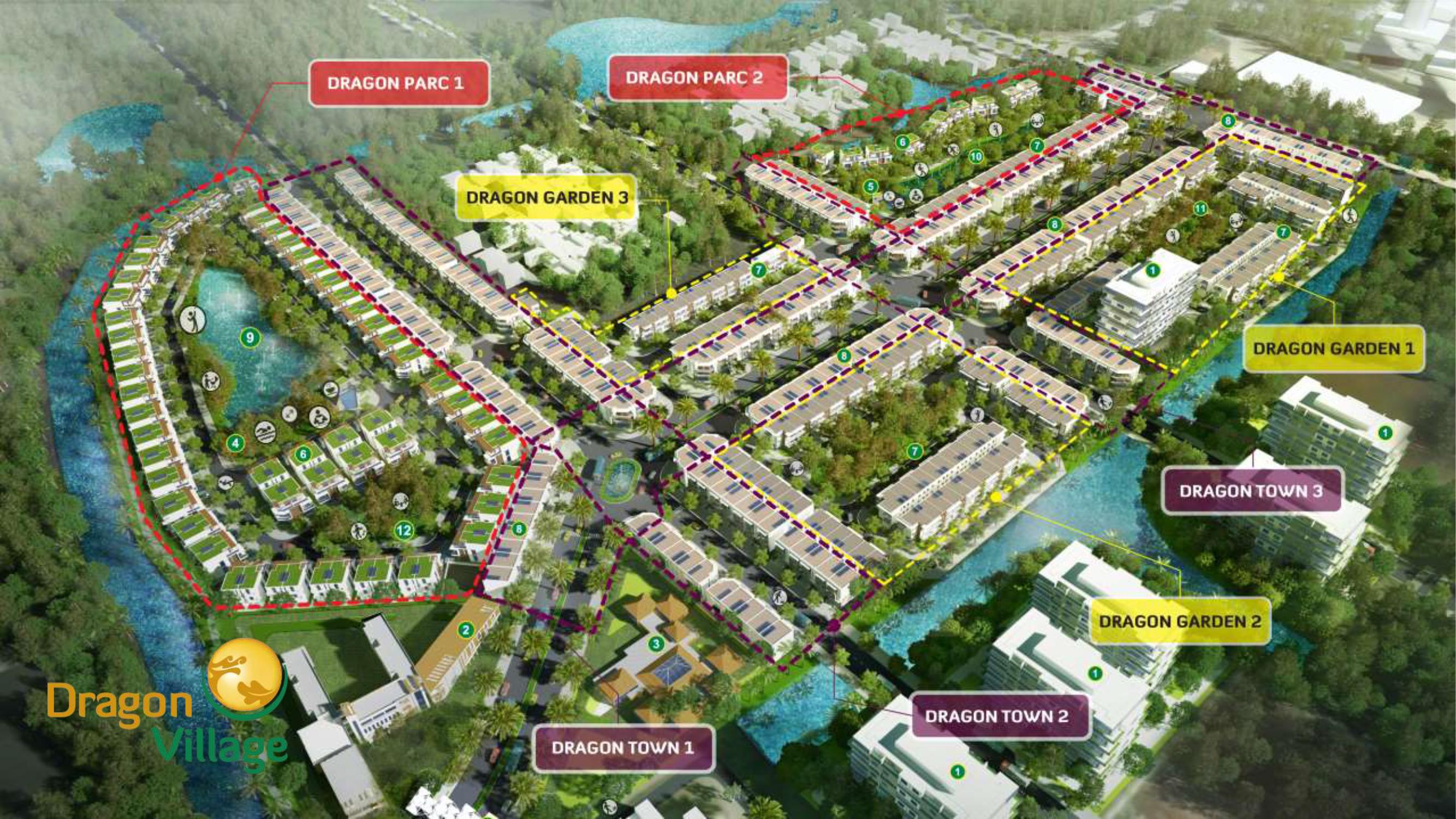 tong thể dự án dragon village quận 9