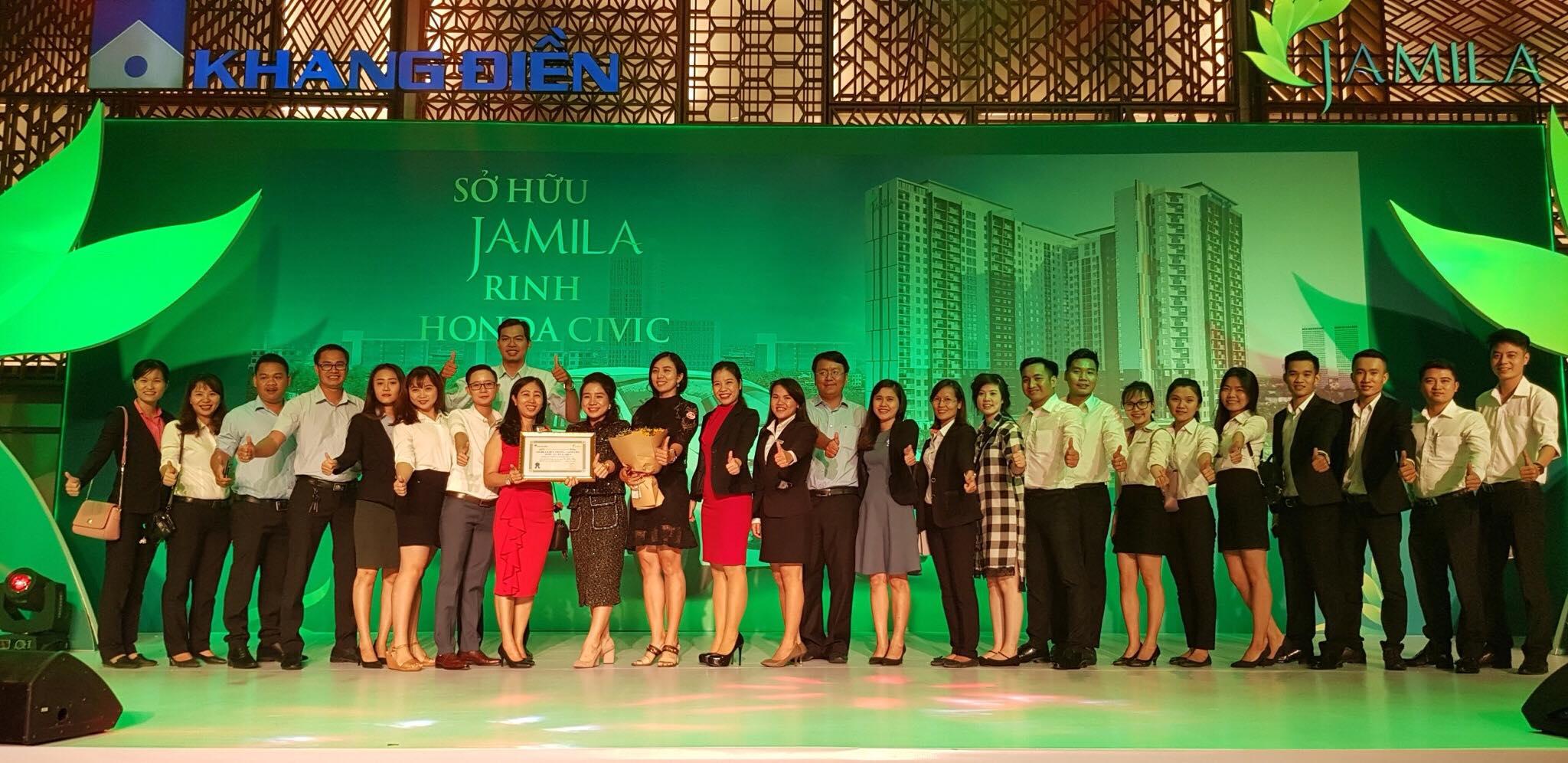 SunlandSG dành giải thưởng - Đại lý F1 phân phối BĐS hiệu quả tại dự án căn hộ Jamila Khang Điền