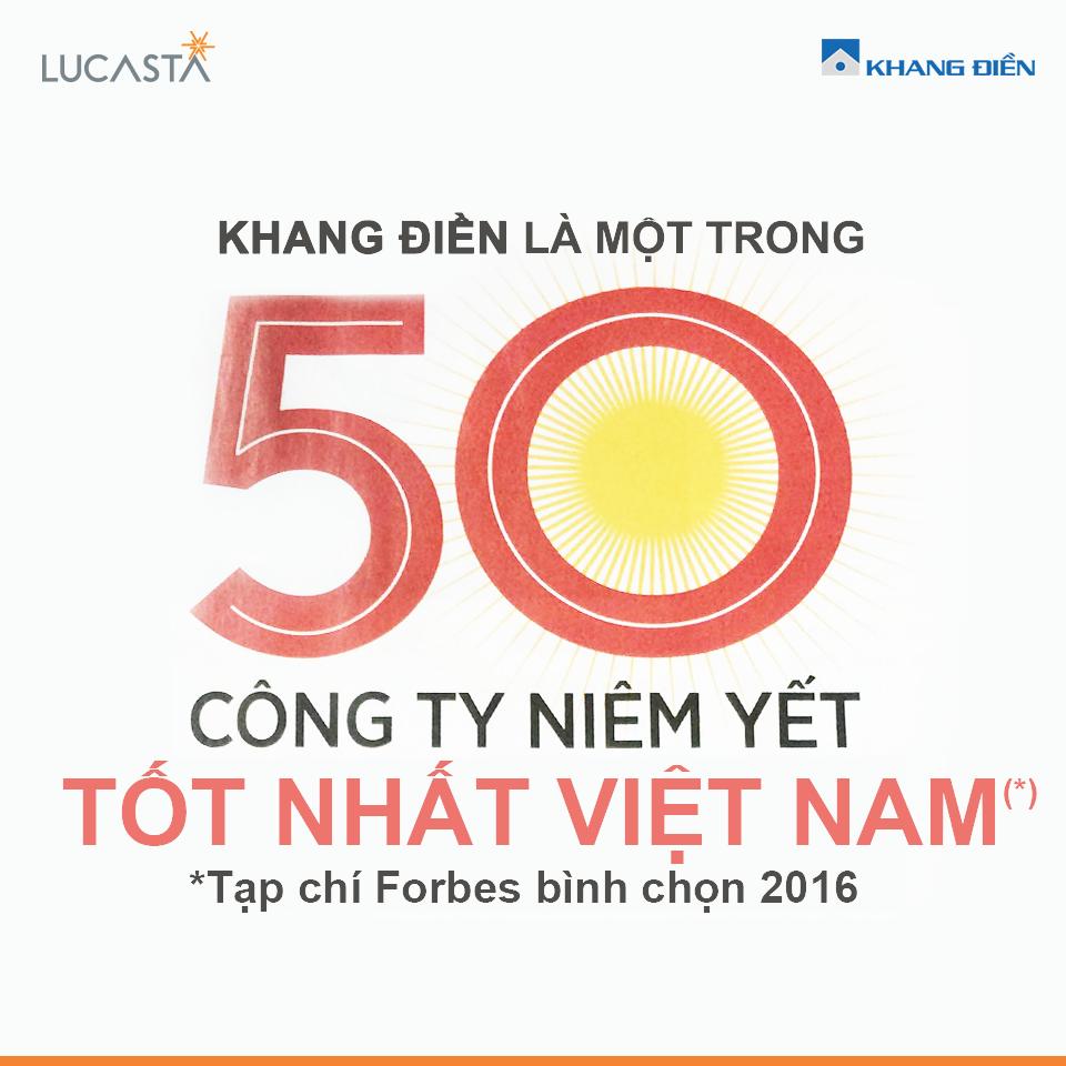 Khang Điền - Top 50 công ty niêm yết tốt nhất Việt Nam do tạp chí Forbes bình chọn