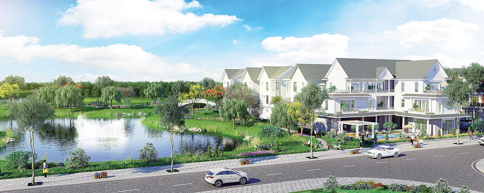 Phối cảnh căn biệt thự đơn lập giai đoạn 2 của Park Riverside Quận 9