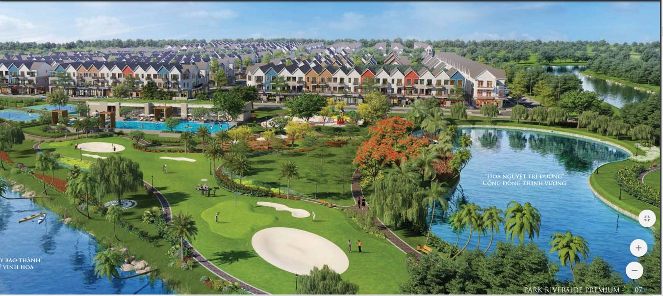 Phối cảnh căn biệt thự giai đoạn 2 của Park Riverside Quận 9