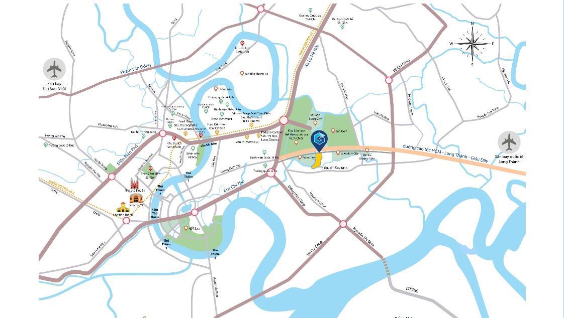 gem riverside có vị trí chiến lược kết nối quận 2
