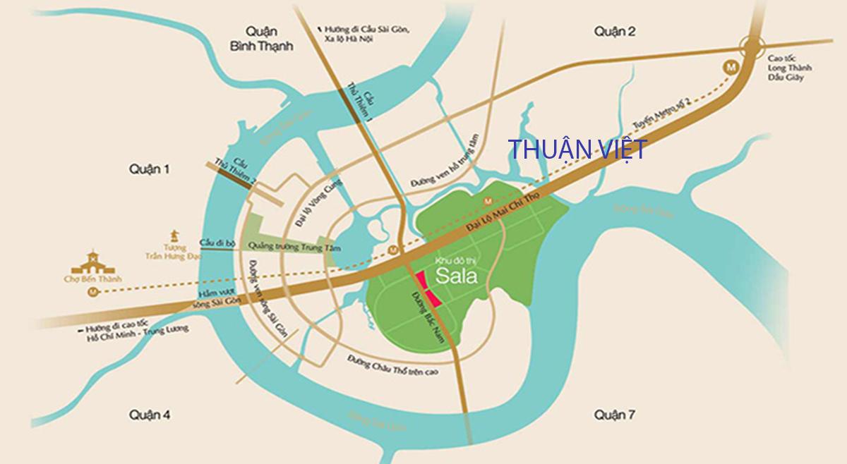 Vị trí căn hộ NewCity Thuận Việt