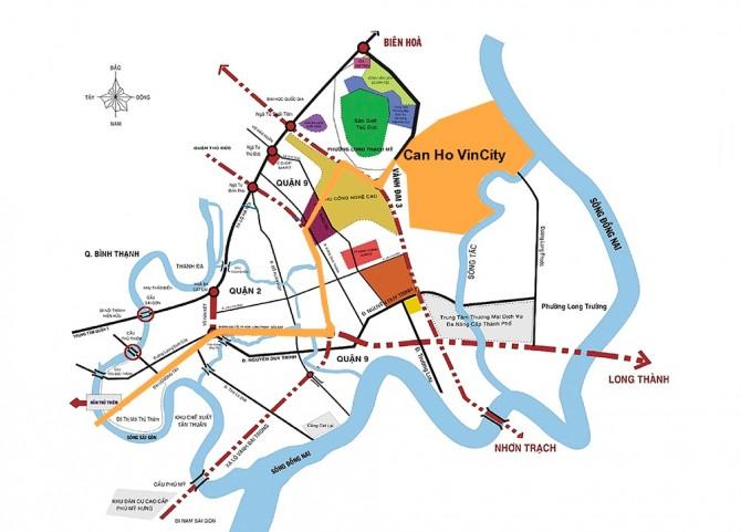 kết nối thuận tiện tại vincity quận 9