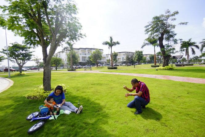 Không gian xanh tại melosa garden