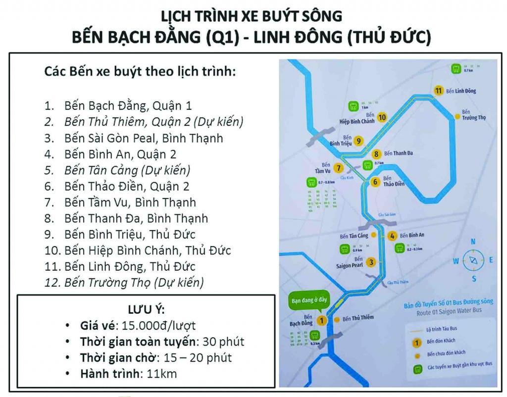 Các tuyến bus kết nối Gem Riverside đến khăp nơi trên thành phố