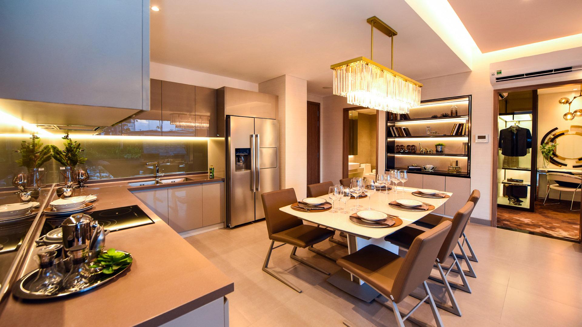 thiết kế bếp căn hộ ecogreen sài gòn quận 7