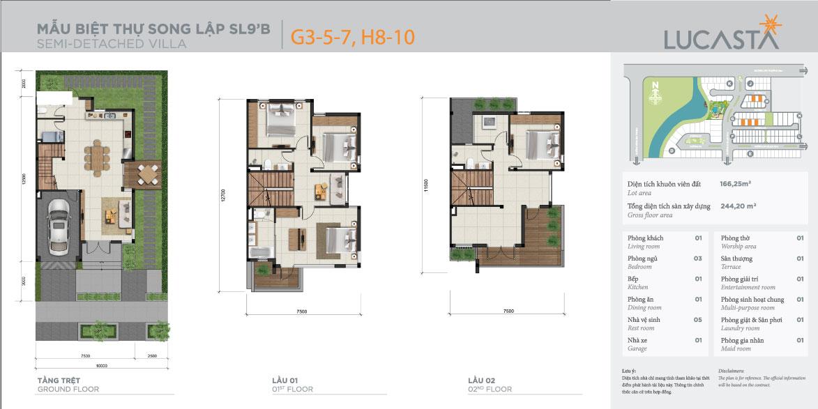 Thiết kế mẫu nhà biệt thự song lập Lucasta