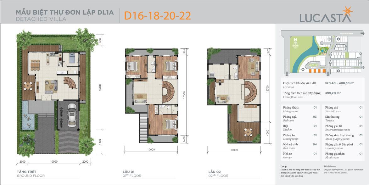 Thiết kế mẫu nhà biệt thự đơn lập 1a lucasta
