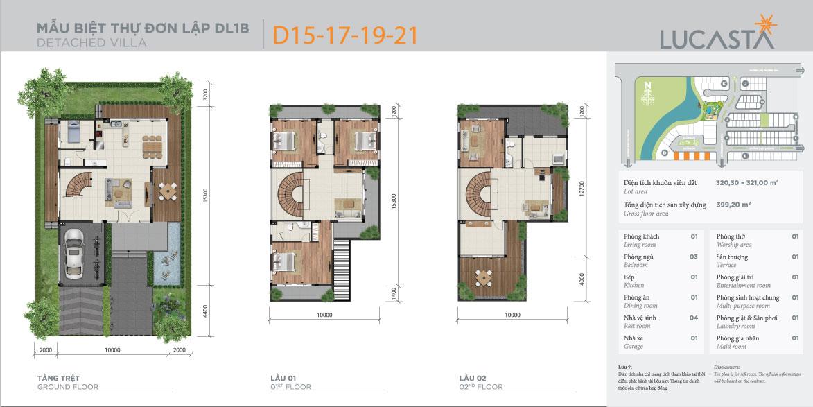 Thiết kế mẫu nhà biệt thự đơn lập 1B Lucasta