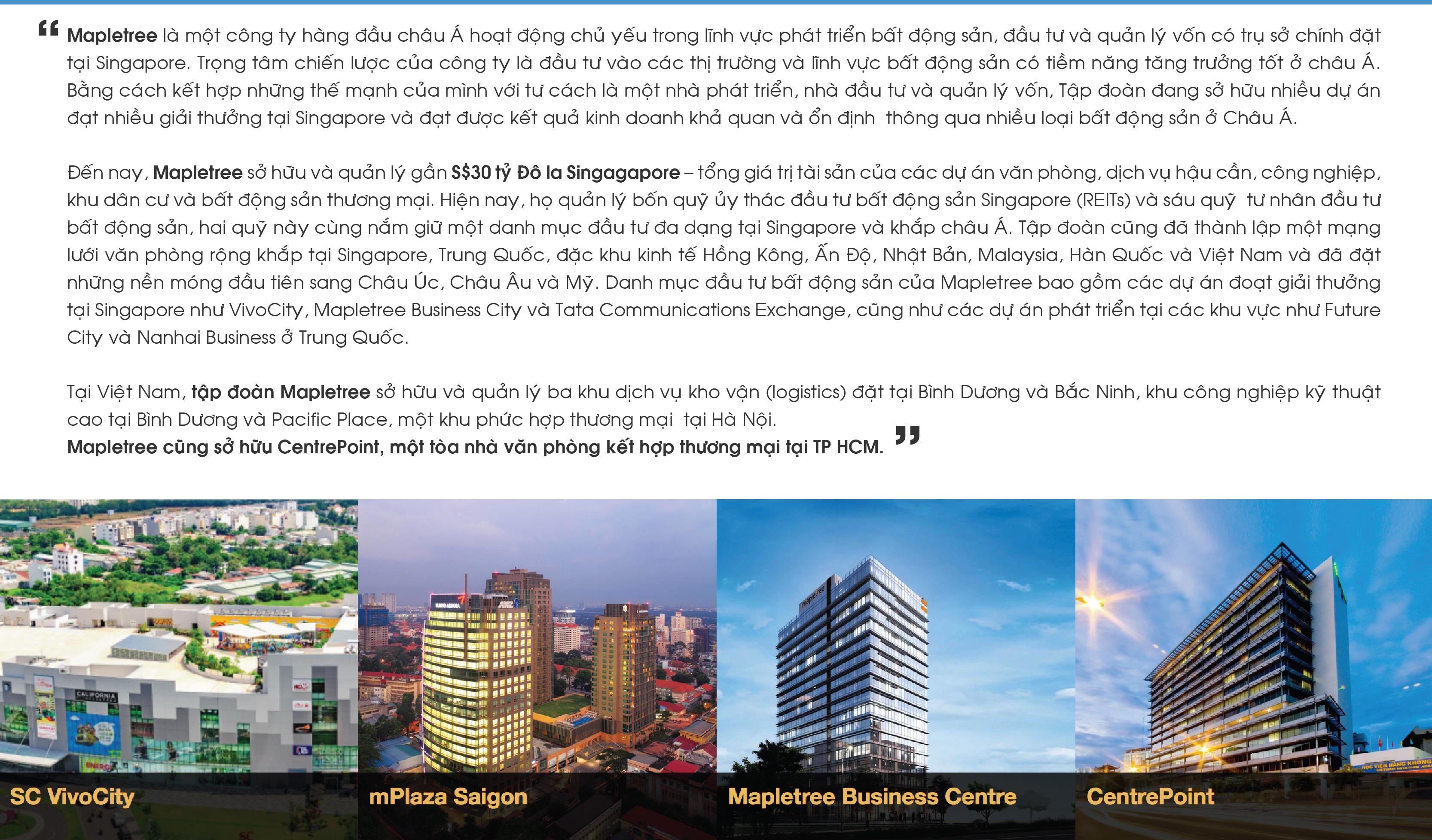Chủ đầu tư MapleTree tại Việt Nam