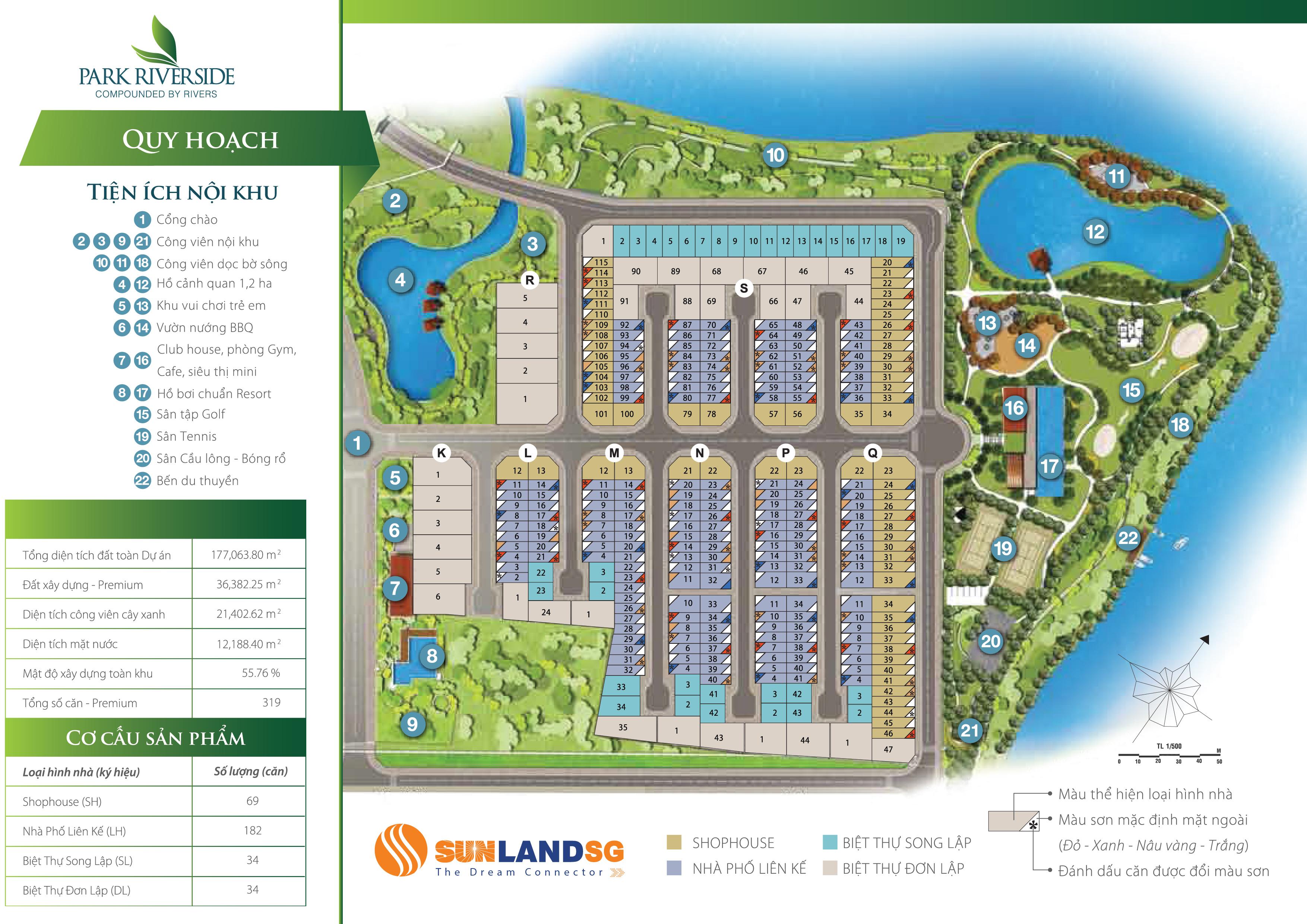 mặt bằng tổng thể Park Riverside Premium