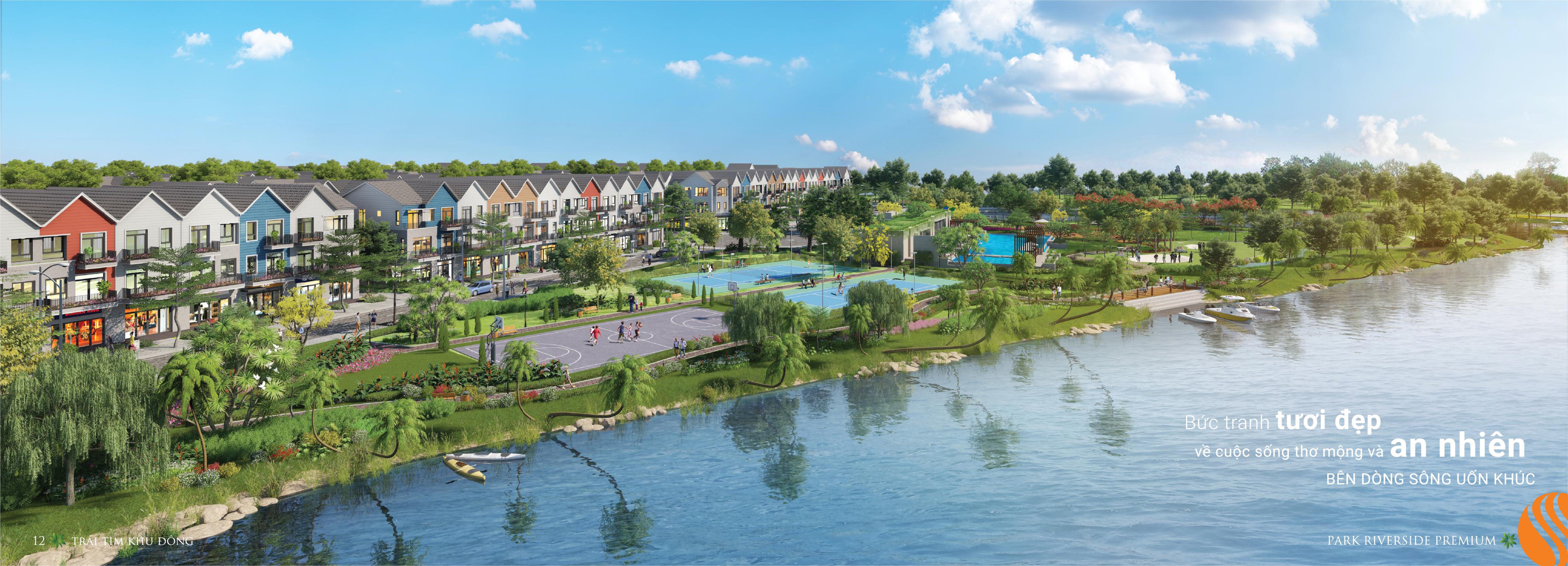 Khu hồ bơi chân may dự án Park Roverside