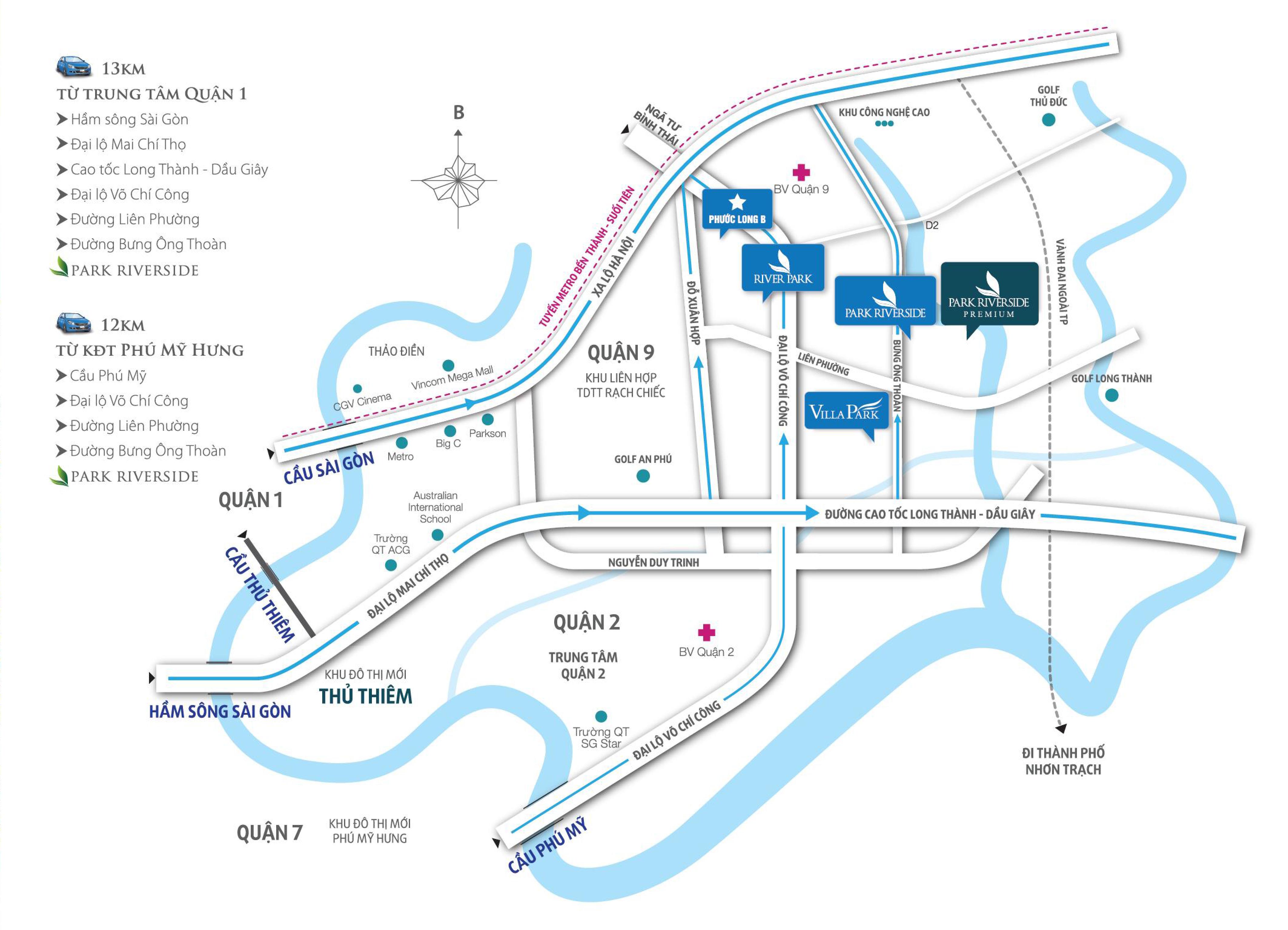 vị trí Park Riverside Premium