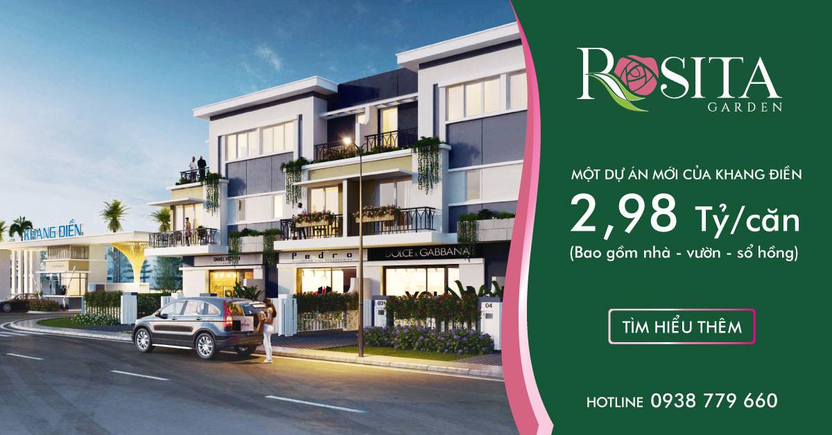 Khu Shophouse dự án Rosita Garden