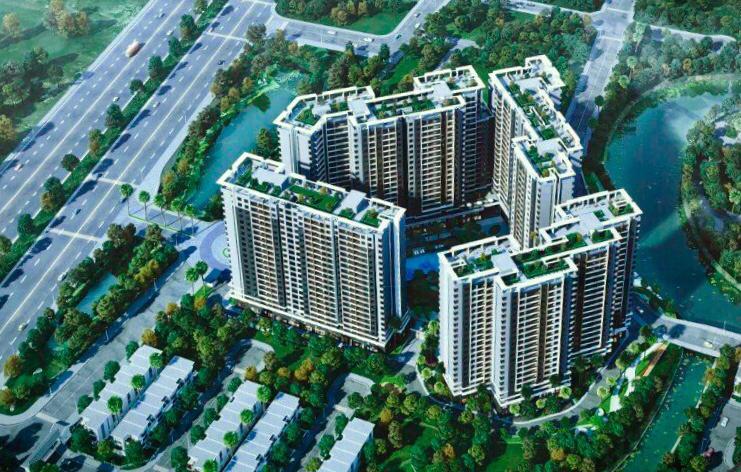 Phối cảnh tổng thể căn hộ Sapphira Khang Điền