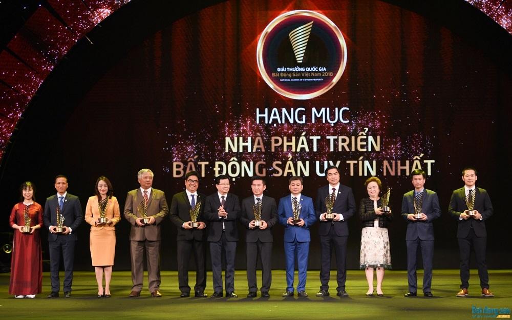Khang Điền đạt giải nhà phát triển bất động sản uy tín nhất 2018