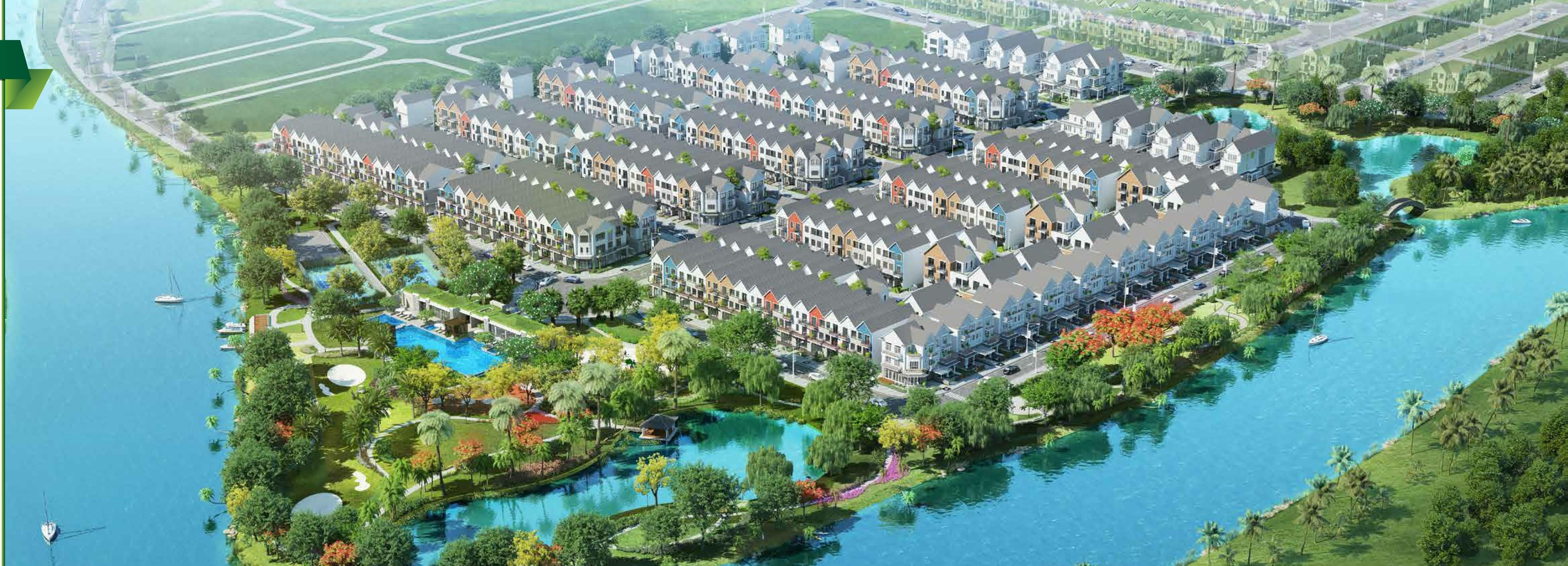 khu biệt thự 2 mặt giáp sông của dự án park riverside