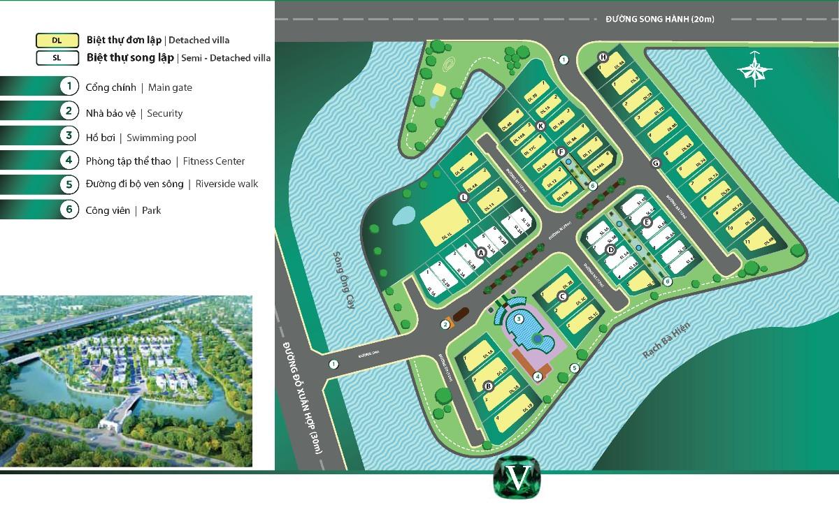 mặt bằng tổng thê dự án Venica