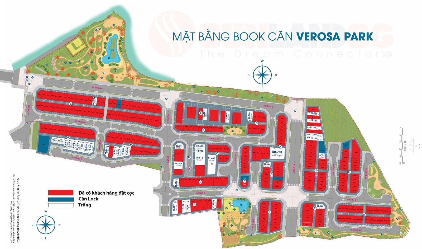 mặt bằng tổng thể book căn verosa park tháng 11/2020