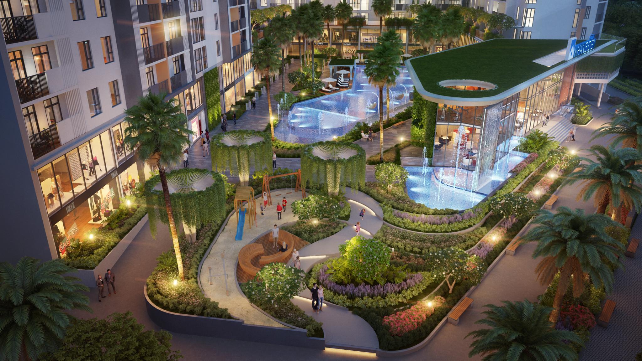 Không gian xanh tại căn hộ Jamila