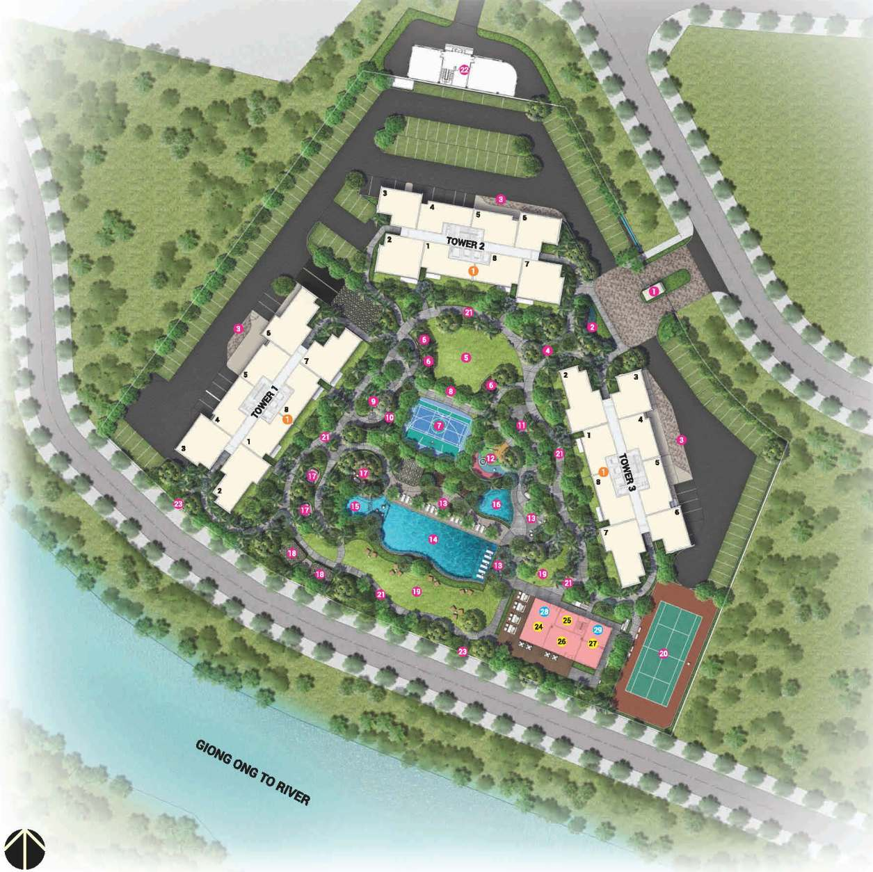 Palm Heights - site plan