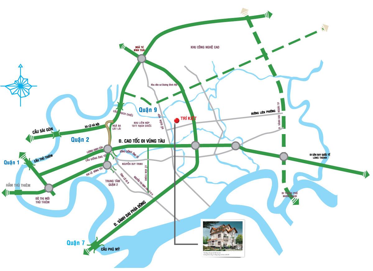 Vị Trí Dự Án - Trí Kiệt River Town