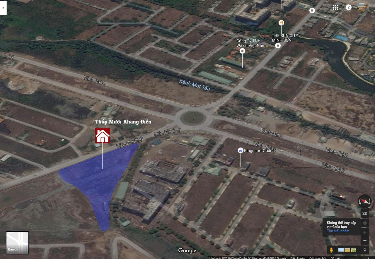 Vị trí Tháp Mười Merita Khang Điền