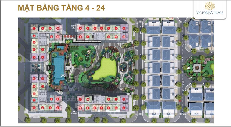 mat bang tang can ho victoria village