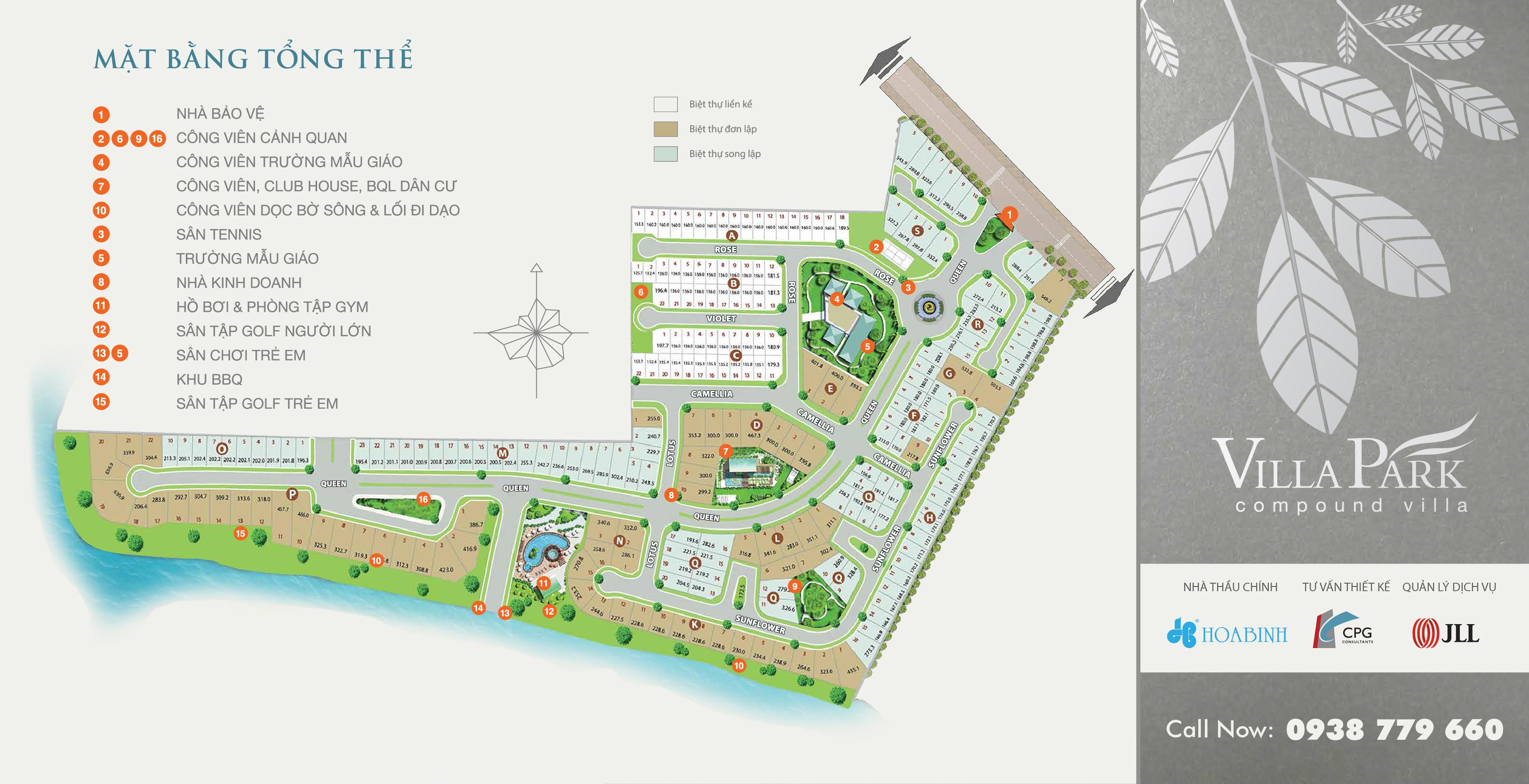 Villapark biệt thự phong cách Mỹ với 8 công viên cây xanh