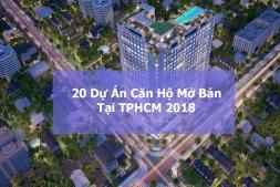 20 dự án chung cư cao cấp dự kiến mở bán trong 2018
