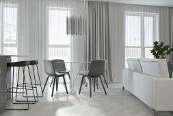 Ngắm căn hộ với 3 gam màu: đen, trắng và hồng phớt hiện đại và tinh tế
