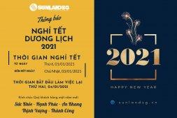 SUNLAND SÀI GÒN - Thông báo lịch nghỉ TẾT dương lịch 2021