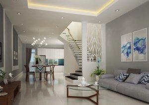 Cho thuê nhà NC MegaRuby Khang Điền gồm 3PN, 3WC View trực diện hồ bơi