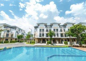 Bán nhà Phố Verosa Khang Điền Q.9 dt: 6x17 trệt 2 lầu View trực diện CV lớn  - 0909128189