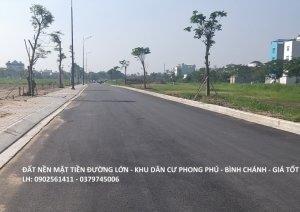 Đất nền sổ đỏ bán giá tốt tại Phong Phú, Bình Chánh 37tr/m2