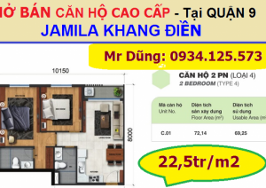 Hãy ĐẦU TƯ ngay từ ĐỢT 1 - Căn hộ JAMILA Khang Điền, Q9, 3 mặt giáp SÔNG - *22,5tr/m2 – CK 2,5% - NH 70%*, ngay mặt tiền đường SONG HÀNH + CAO TỐC