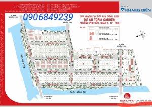 Cần bán đất nền Topia Khang Điền Q9. Gía 57tr/m2. LH 090 68 49 239