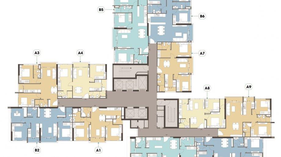 Mặt bằng tổng thể Block A Dự án căn hộ Eco Green SaiGon